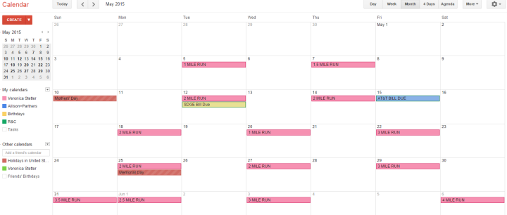 My calendar...I'm ready baby!!